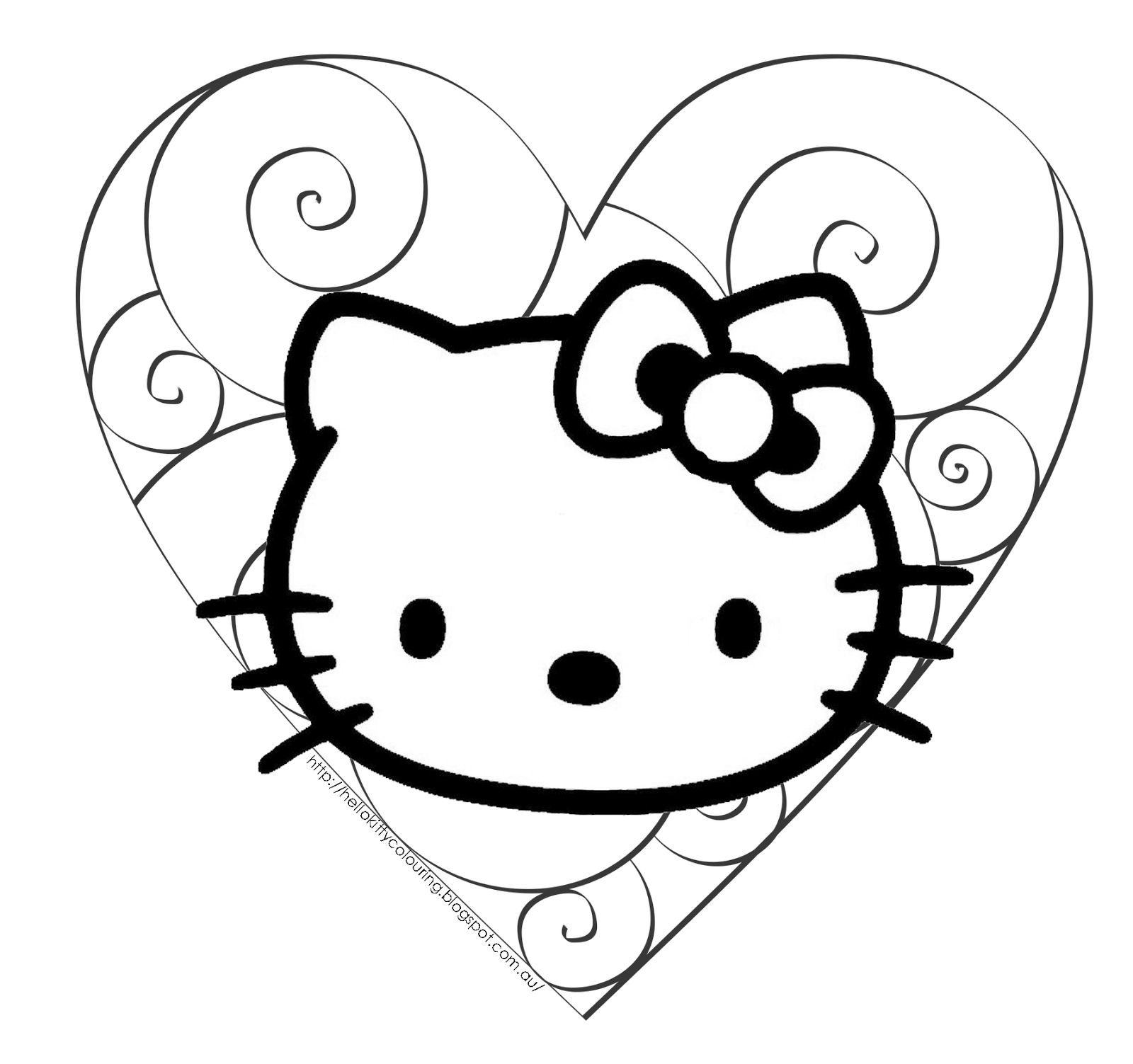 Hello Kitty Valentine Coloring Pages To Print : Hello kitty valentine coloring pages home