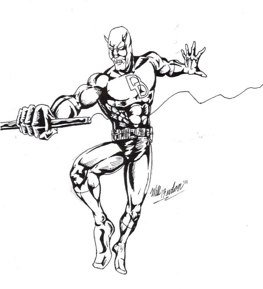 Daredevil Coloring Page Az Coloring Pages Daredevil Coloring Pages