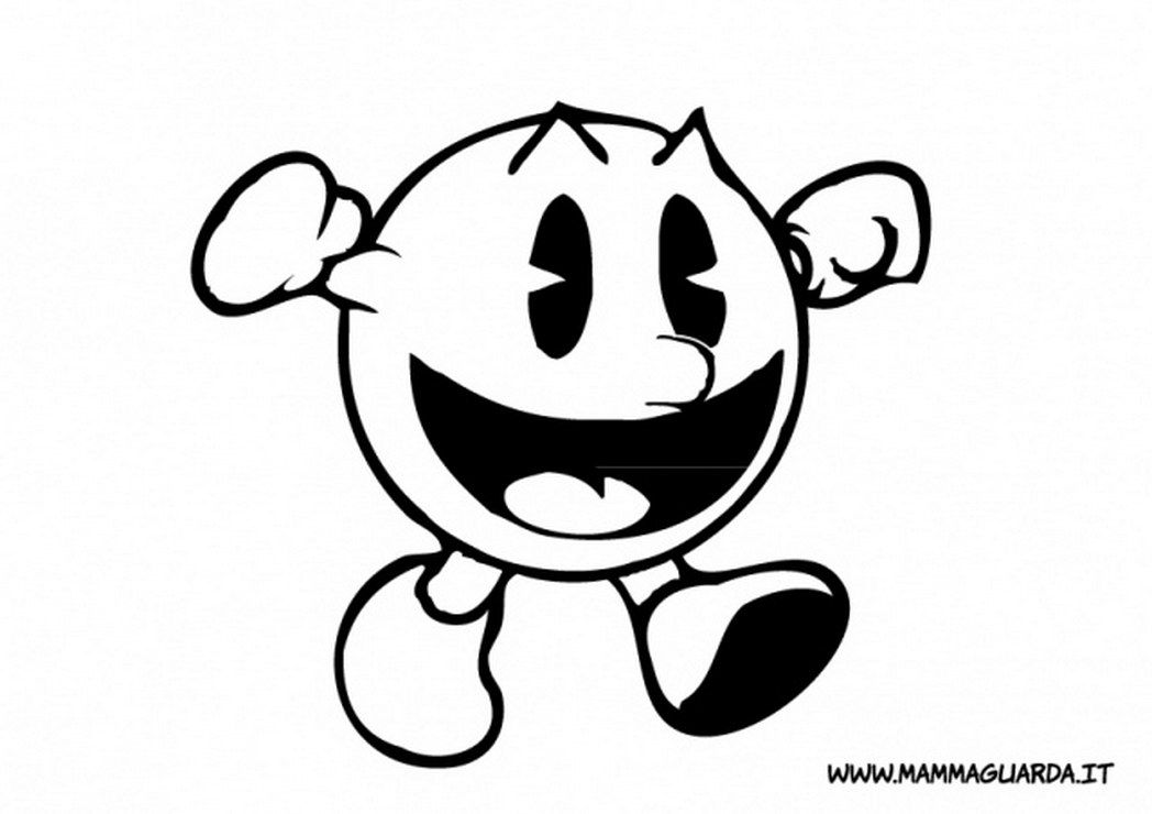 Pacman Coloring Pages To Print - Coloring Home