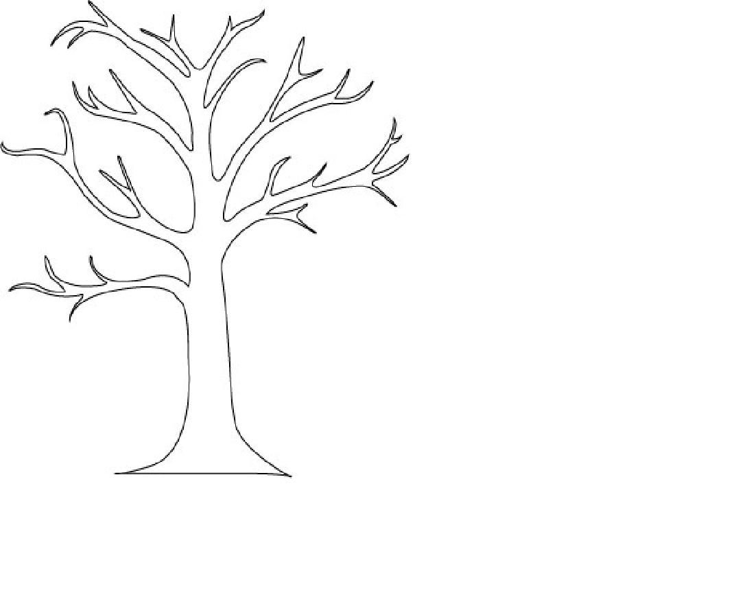 Coloring Pages Coloring Page Of Tree bare tree coloring page az pages pictures of branches coloring