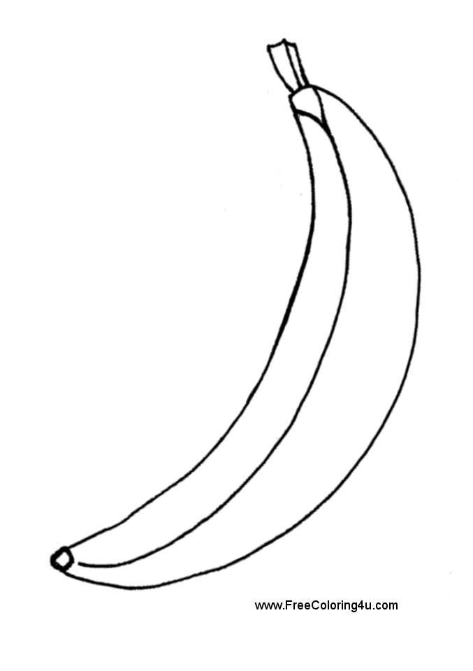 banana coloring pages - photo#24