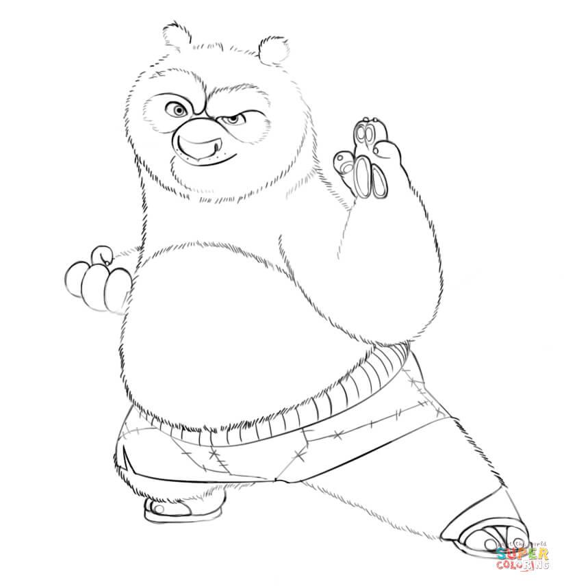 генеральная картинки кунг-фу панда раскраска состоянию полотна, его