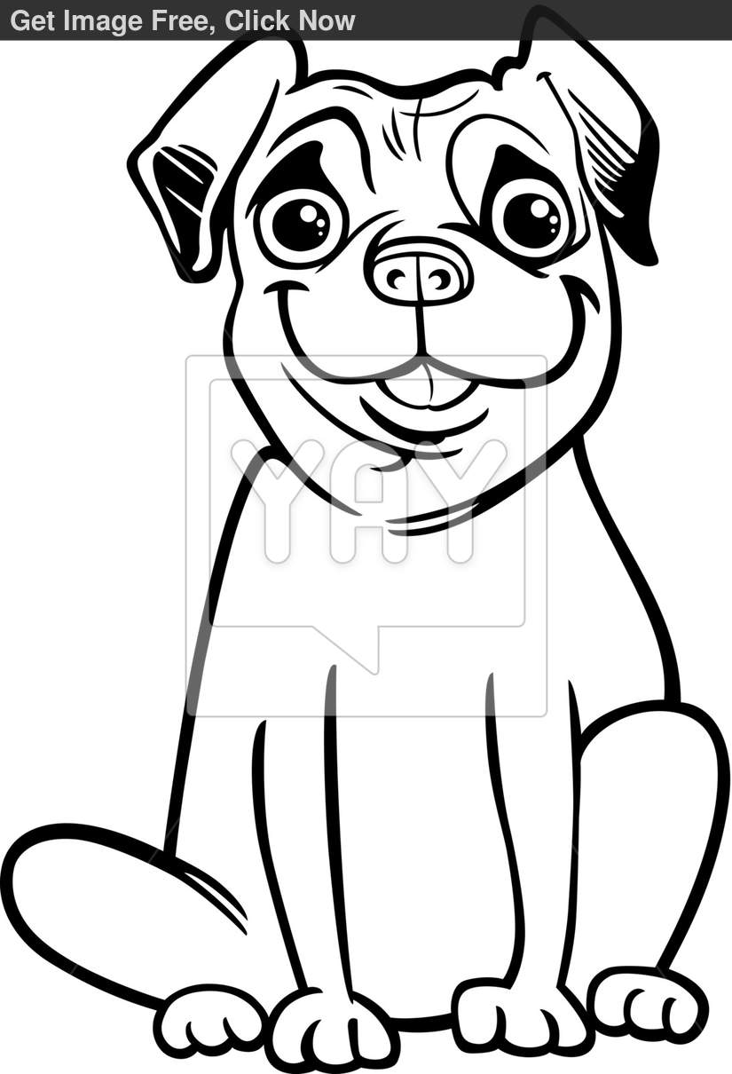 Coloring pages pug coloring home for Pug coloring pages to print