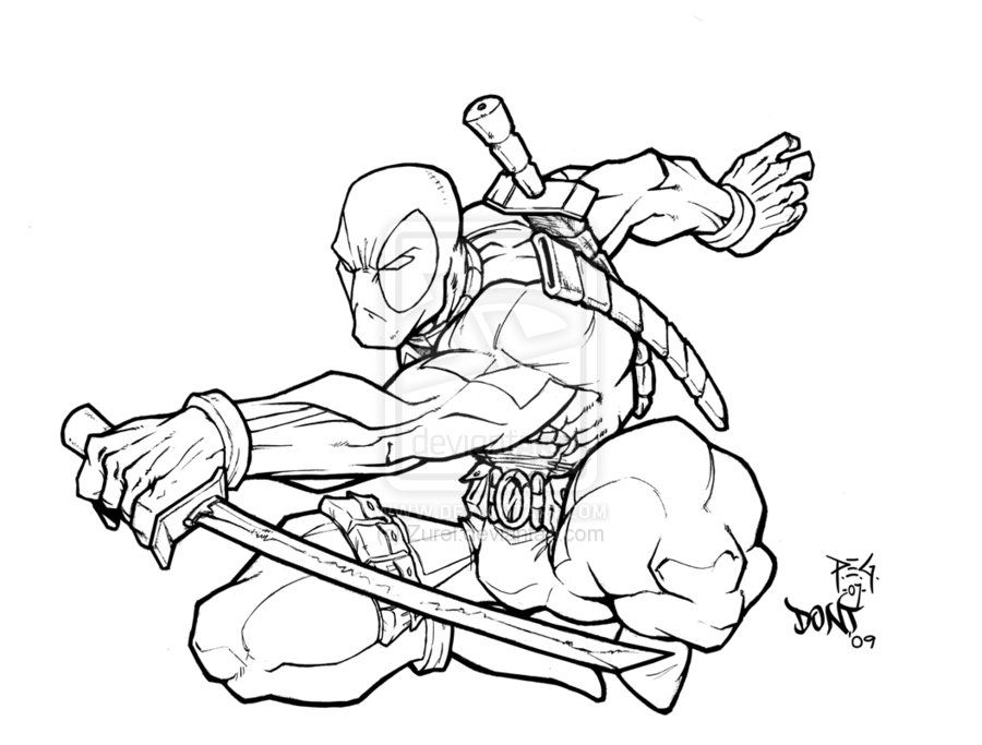 Printable Deadpool Coloring Pages Miakenasnet