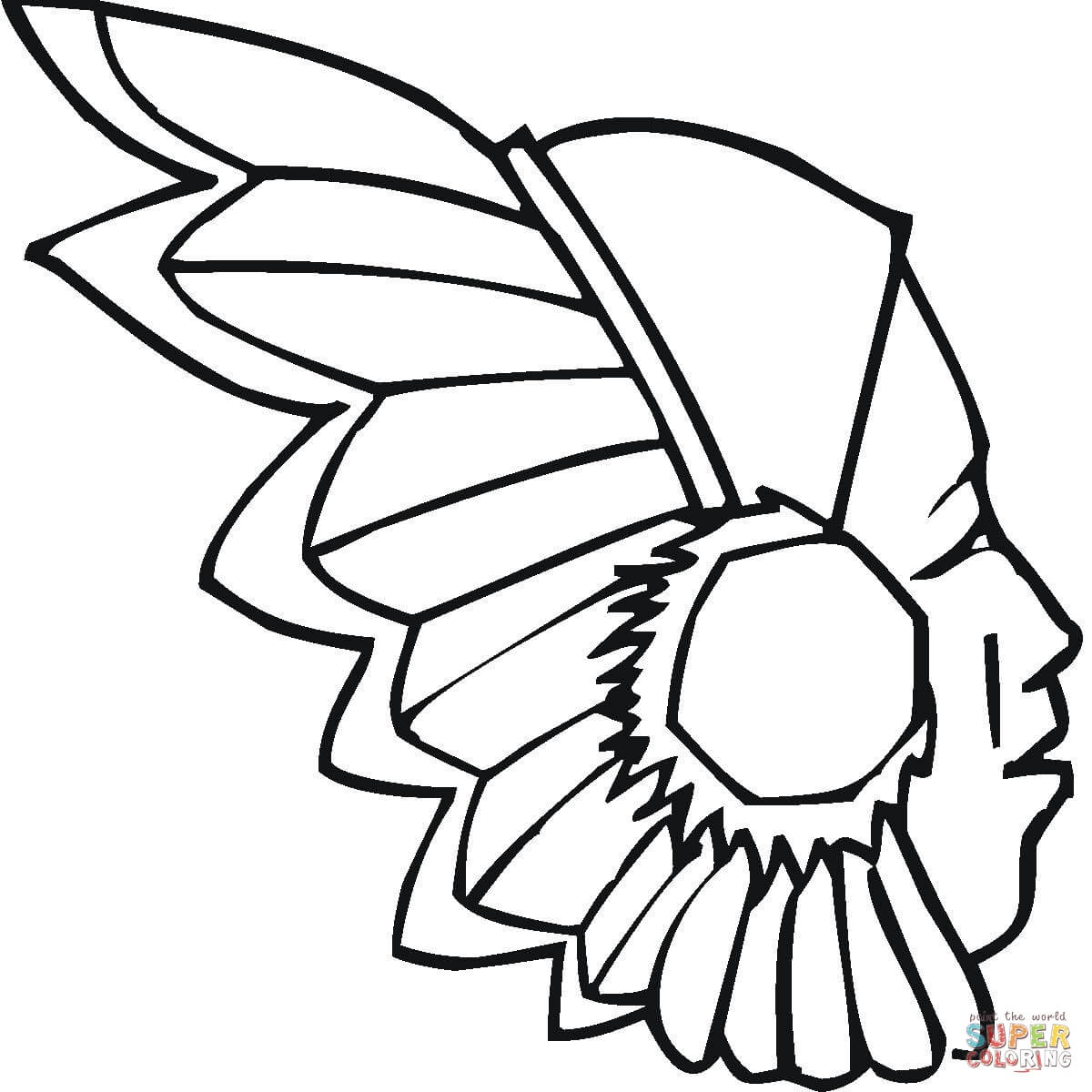 Indian Headdress Coloring Page | Free Printable Coloring Pages ...
