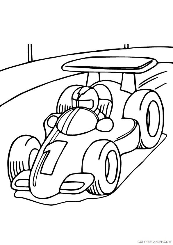f1 race car coloring pages for kids Coloring4free - Coloring4Free.com