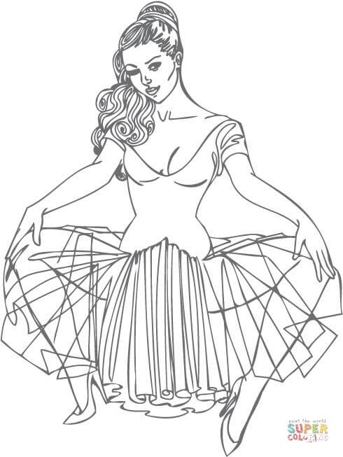 Pin Up Girl Tattoo Coloring Pages (Page 6) - Line.17QQ.com - Coloring Home