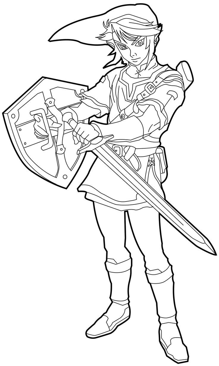 Free Zelda Coloring Pages | Legends of Zelda Birthday Party ...