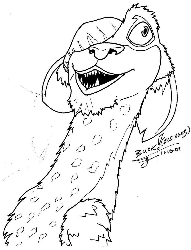 Ice Age Scrat Coloring Pages Virtren Com Coloring Coloring Pages
