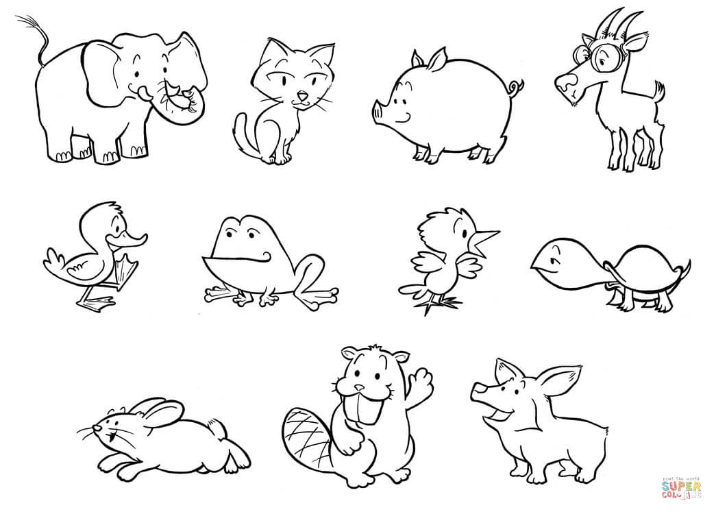 Free Coloring Pages Of Baby Animals  Coloring Home