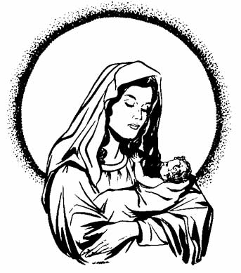 Free Coloring Page Of Mary The Mother God