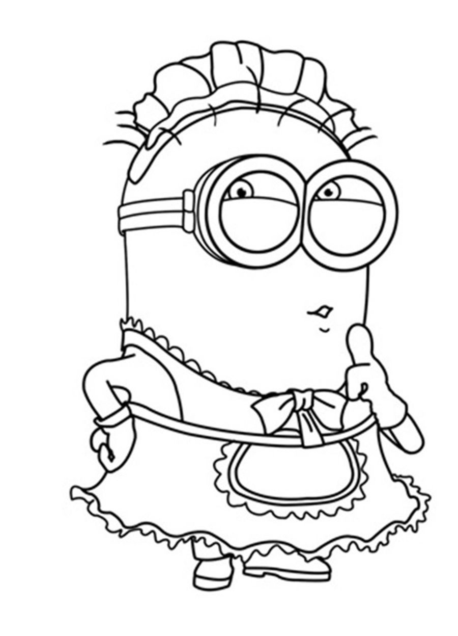 coloring pages minion coloring home