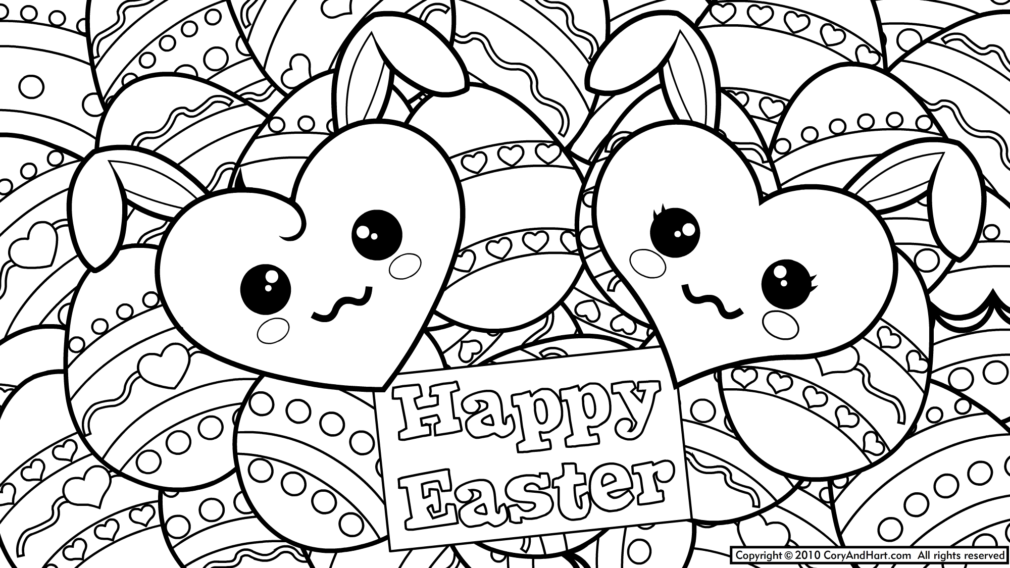 Free Easter Coloring Pages Pdf : Cat coloring pages easter for all ages