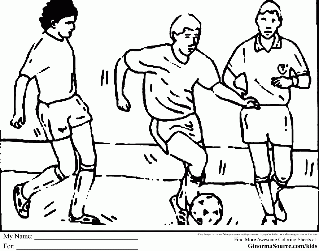 soccer game coloring pages - photo#7