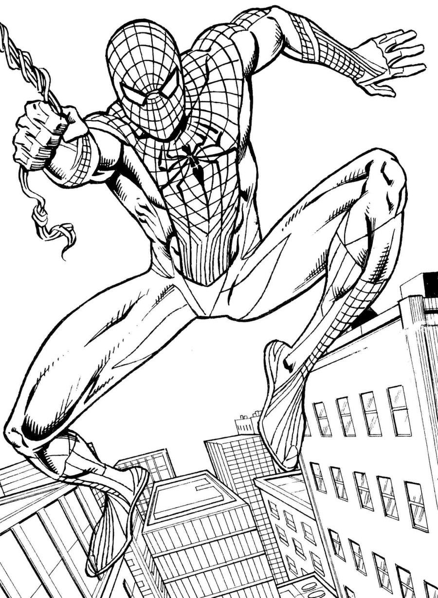 spectacular spiderman coloring pages - photo#6