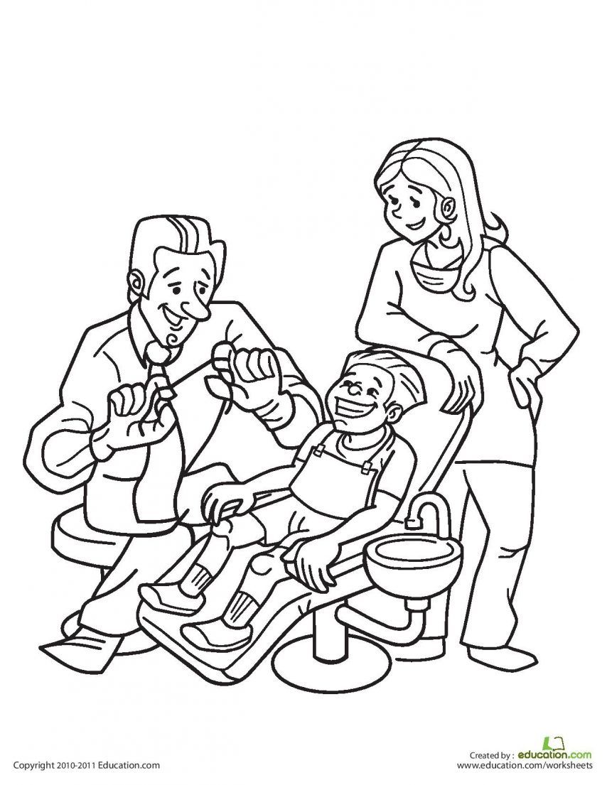 Dental Coloring Pages For Kindergarten : Teeth coloring pages preschool az