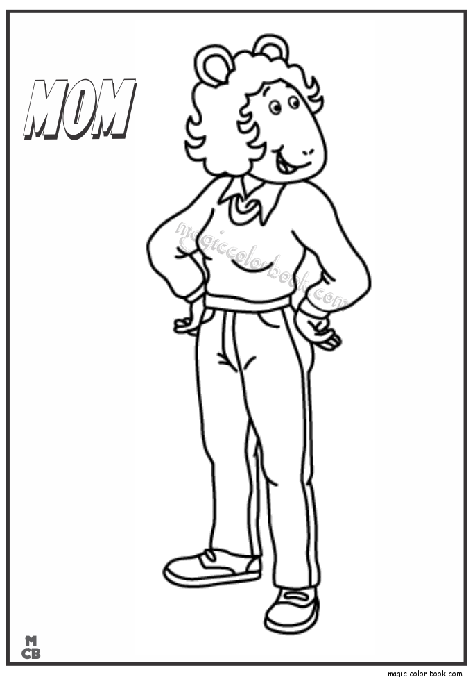 arthur thanksgiving coloring pages - photo#3
