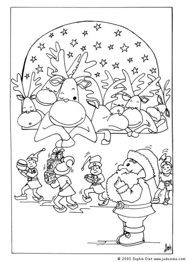 santas reindeer coloring pages rudolph and santa sleigh