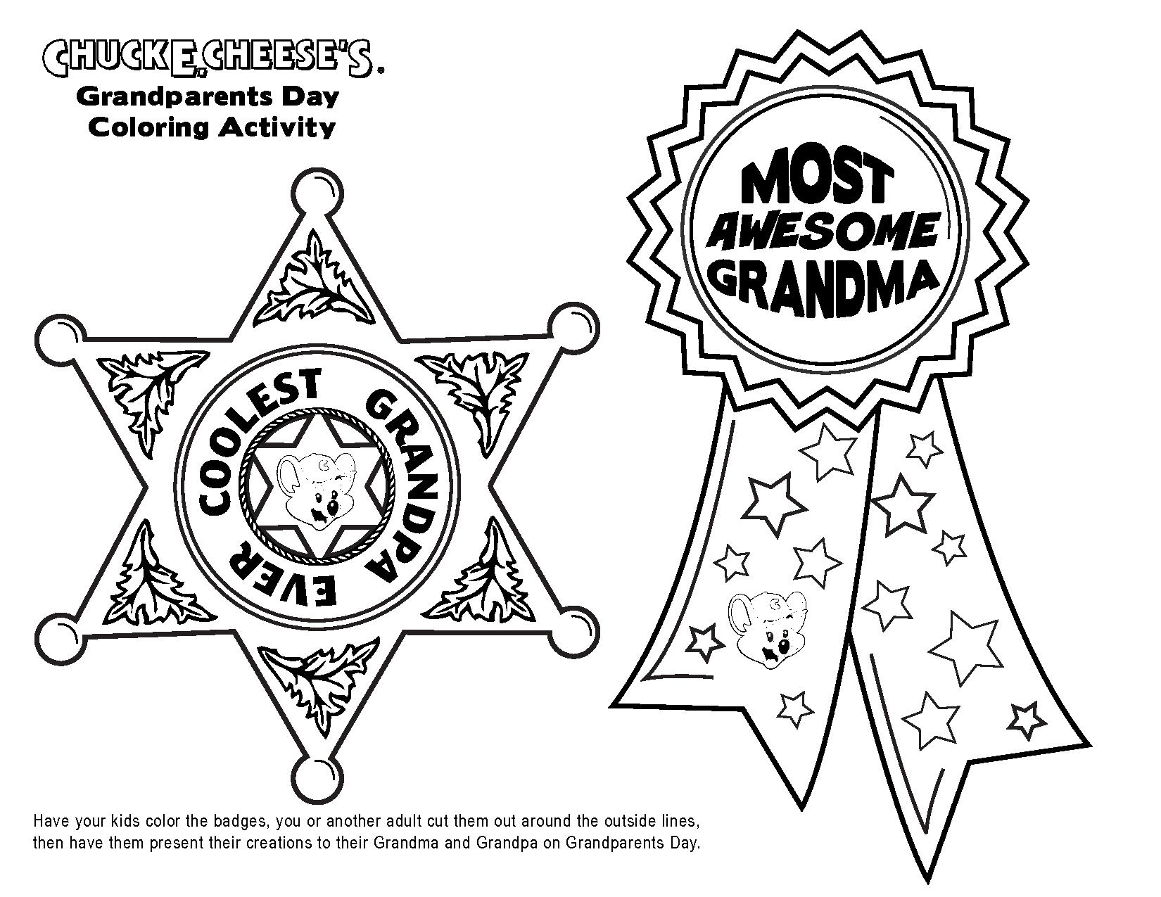 Grandparents Coloring Pages