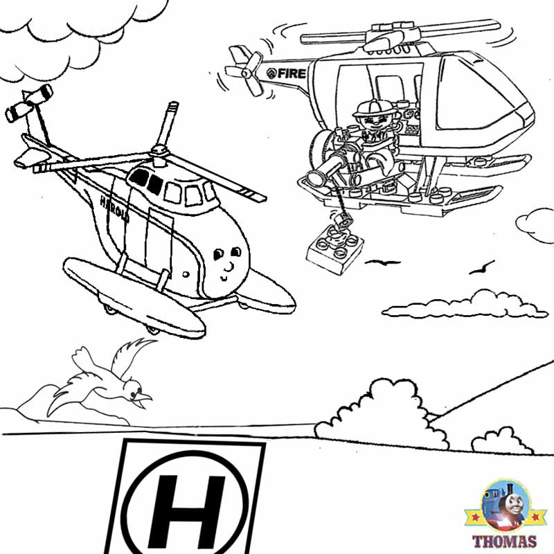 Harold The Helicopter Coloring Page