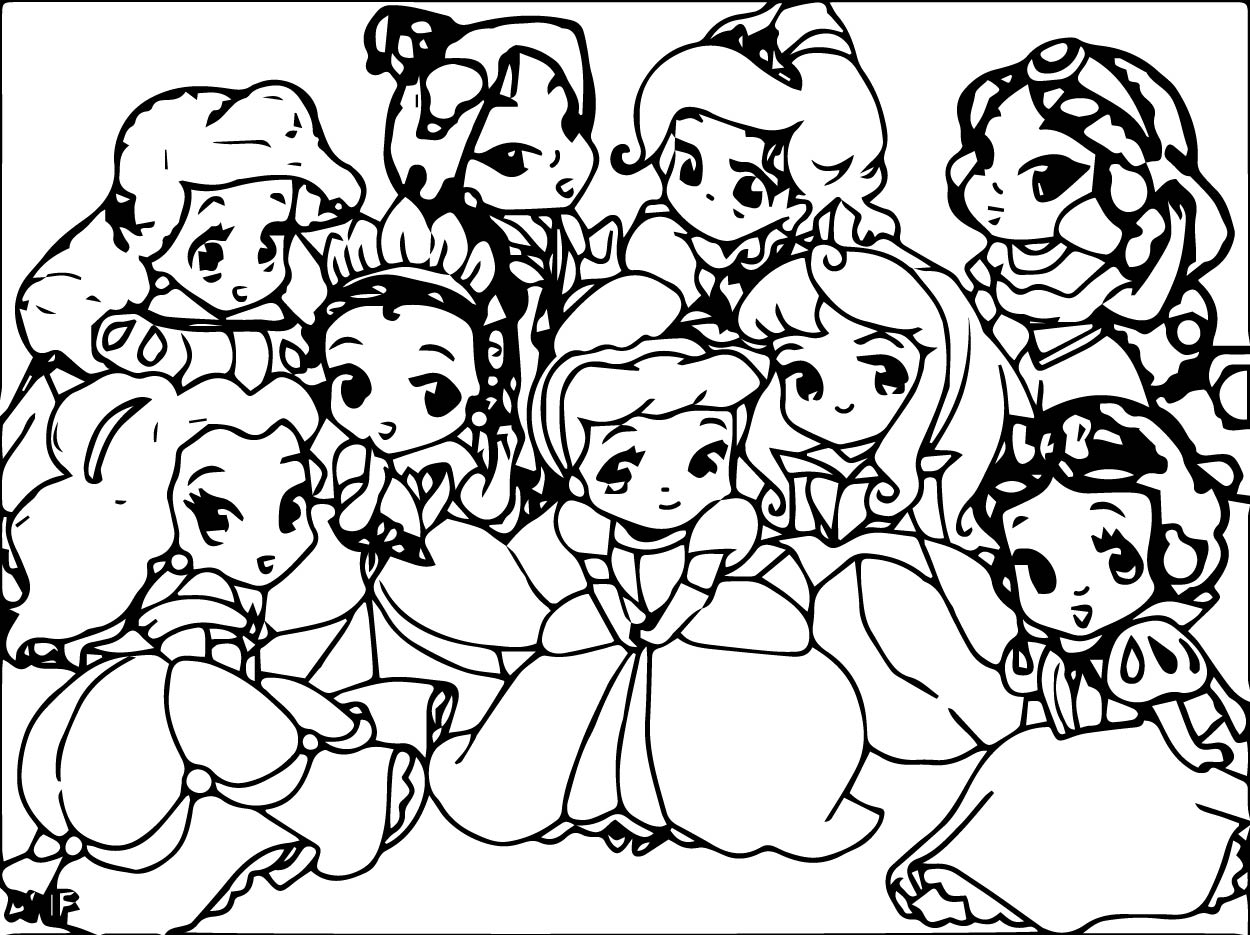 Printable Disney Coloring Pages For Kids: Disney Baby Princess Coloring Pages