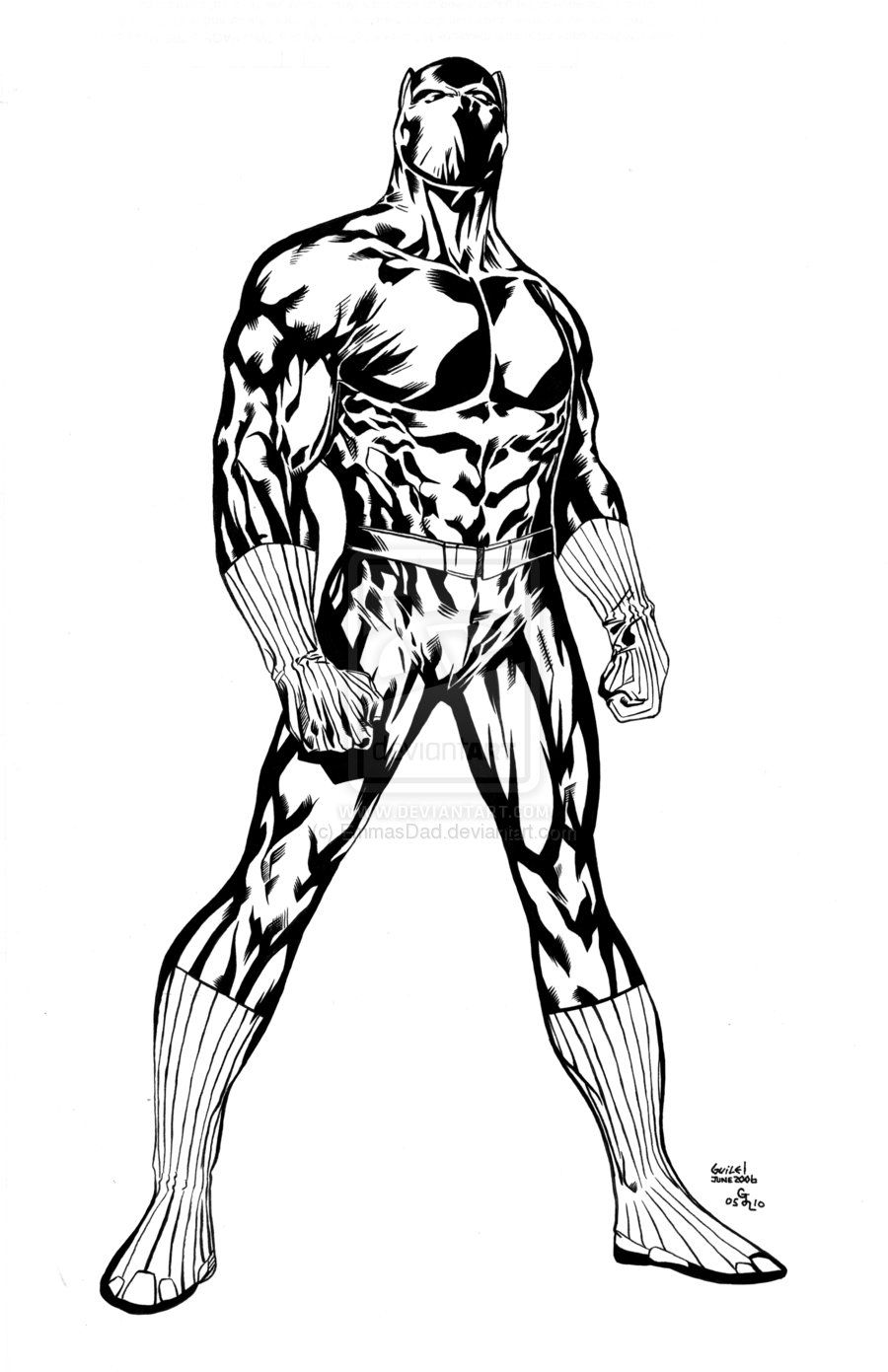 Black Panther Coloring Page AZ