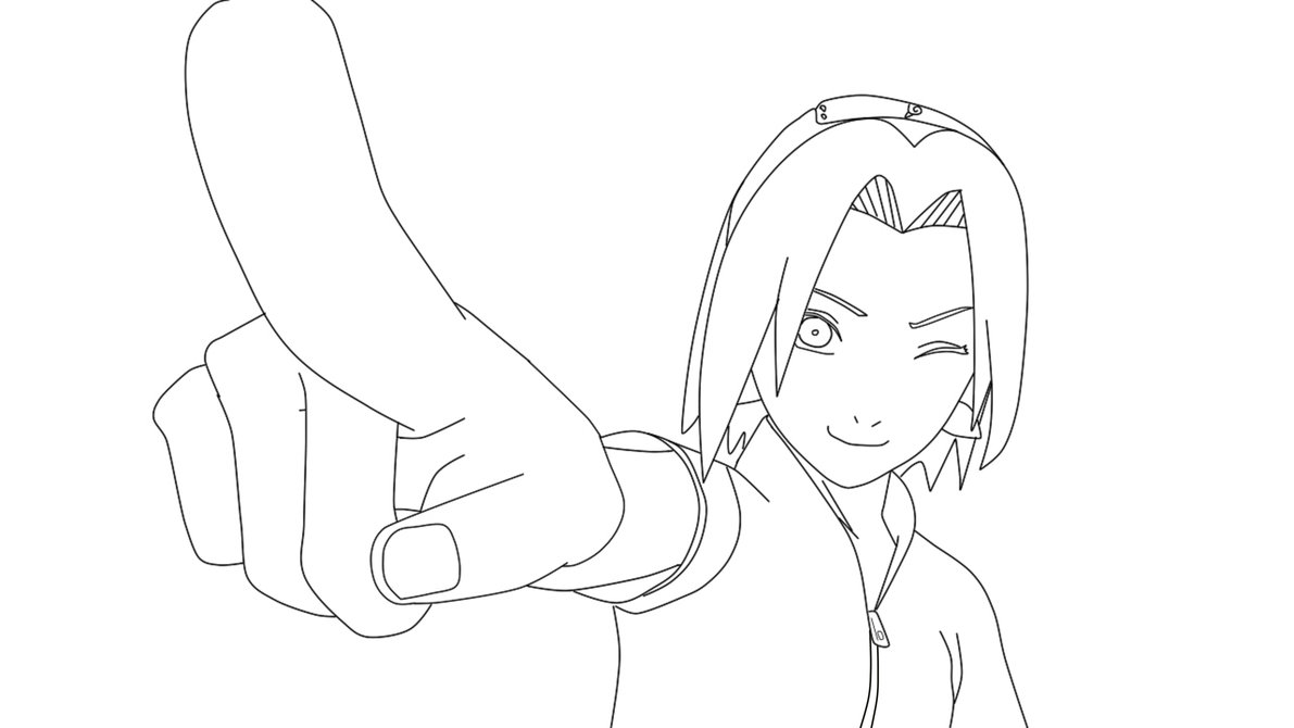sakura haruno coloring pages - photo#27