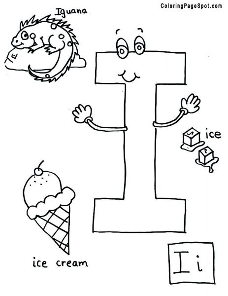Letter I Coloring Page Coloring Home