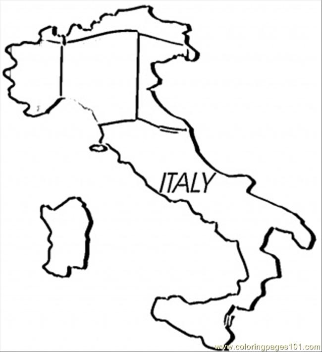 Italian Flag Coloring Page Coloring Home
