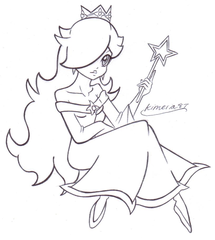 Rosalina Printable Coloring Pages - High Quality Coloring Pages