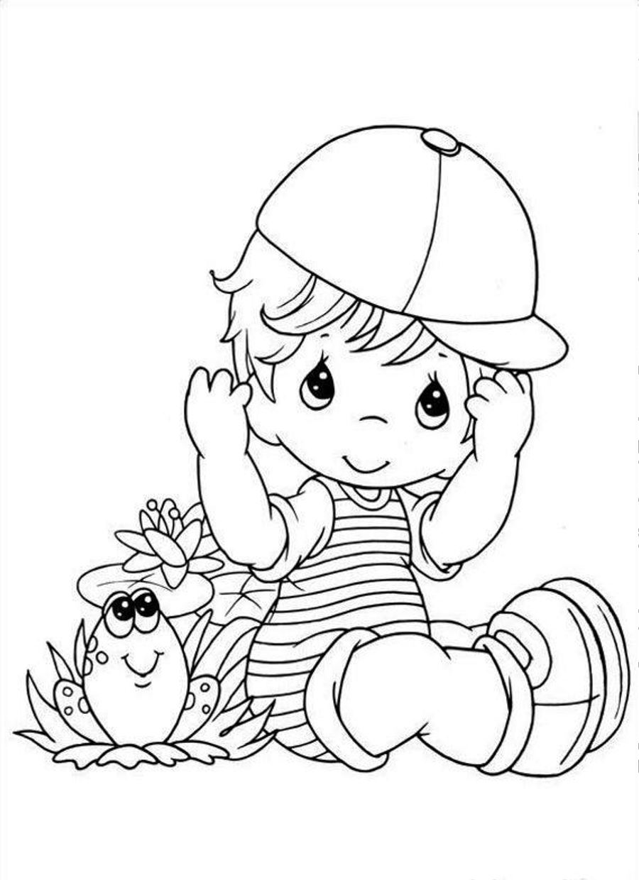 baby boy coloring page | Only Coloring Pages