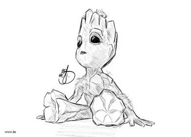 Cute Baby Groot Coloring Pages ...novocom.top