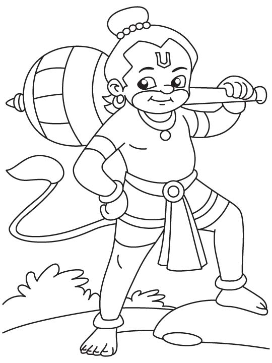 Hanuman Coloring Pages Coloring Home