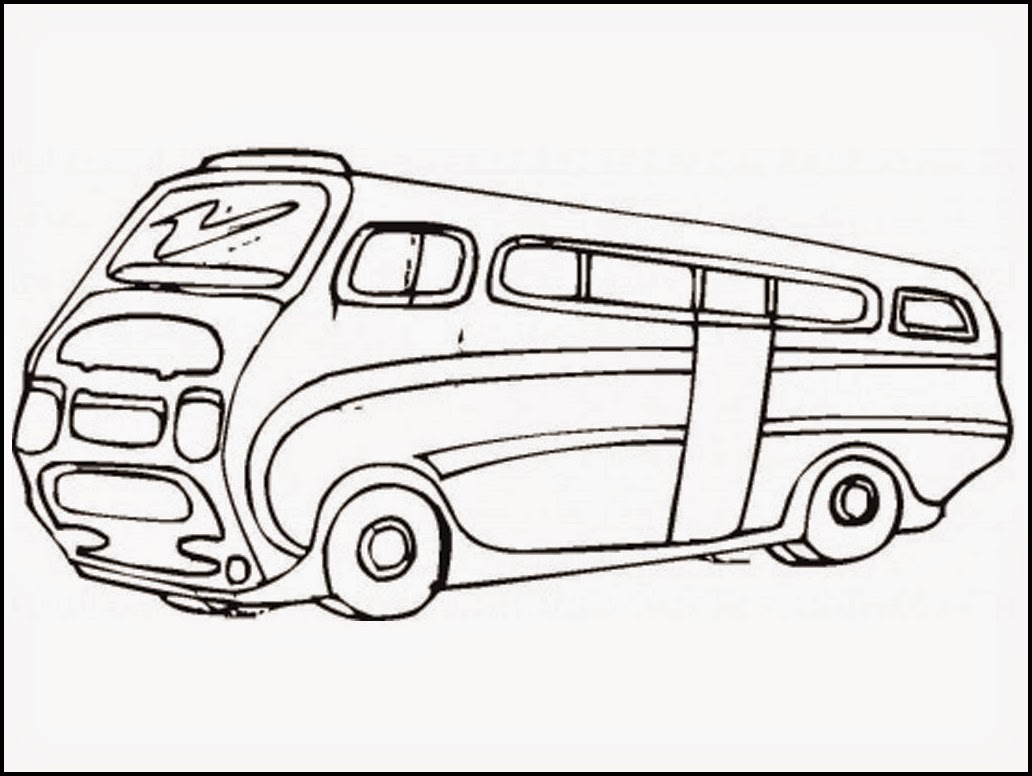 volkswagen bus coloring pages - photo#21