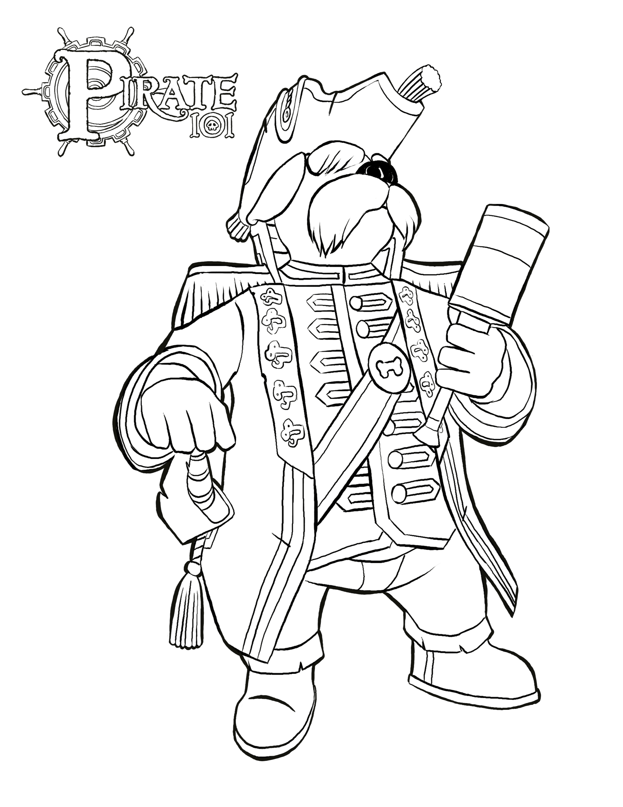 Pirate coloring pages coloring home for Coloring pages pirate