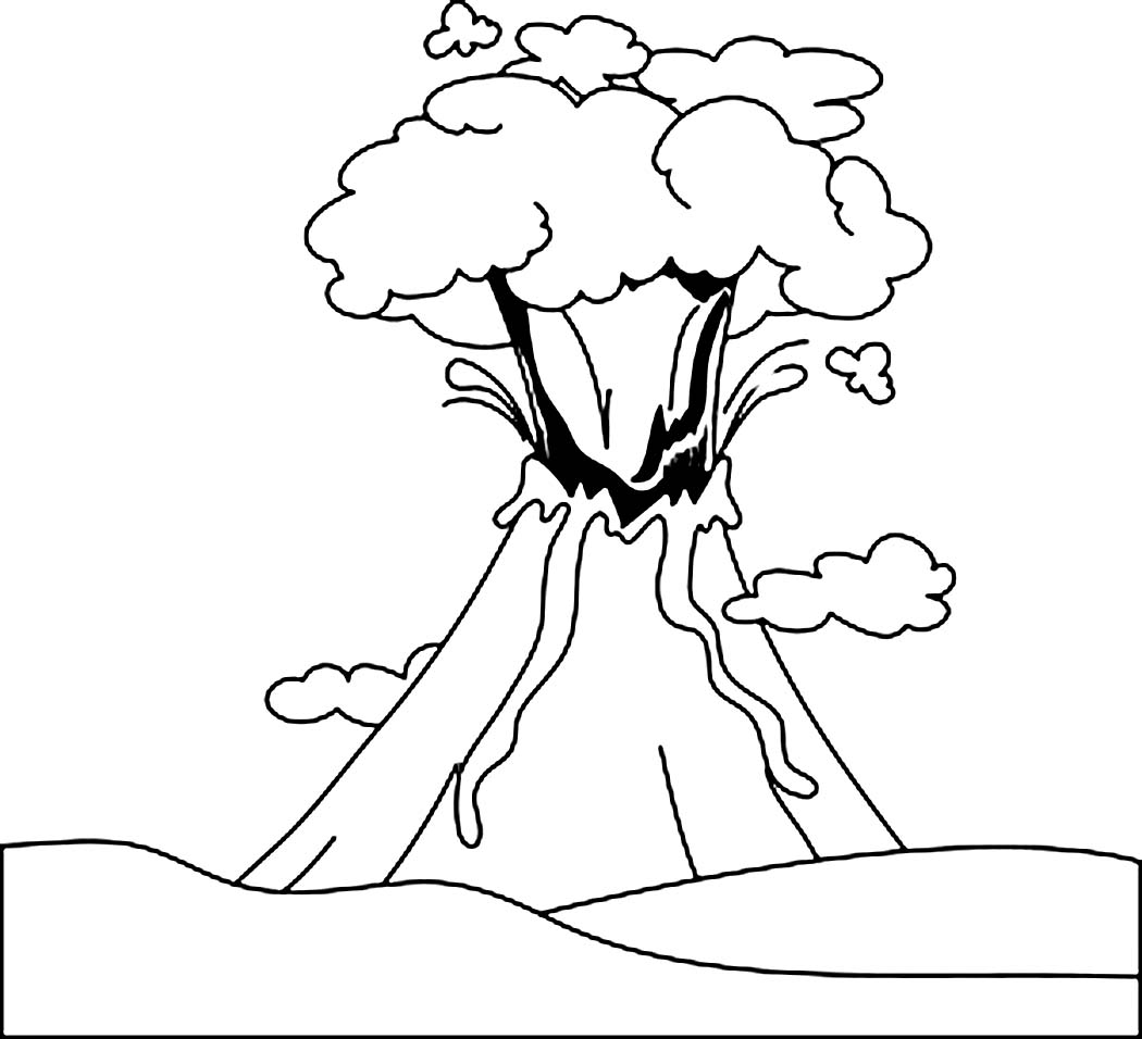 printable volcano coloring pages coloring me - Volcano Coloring Pages
