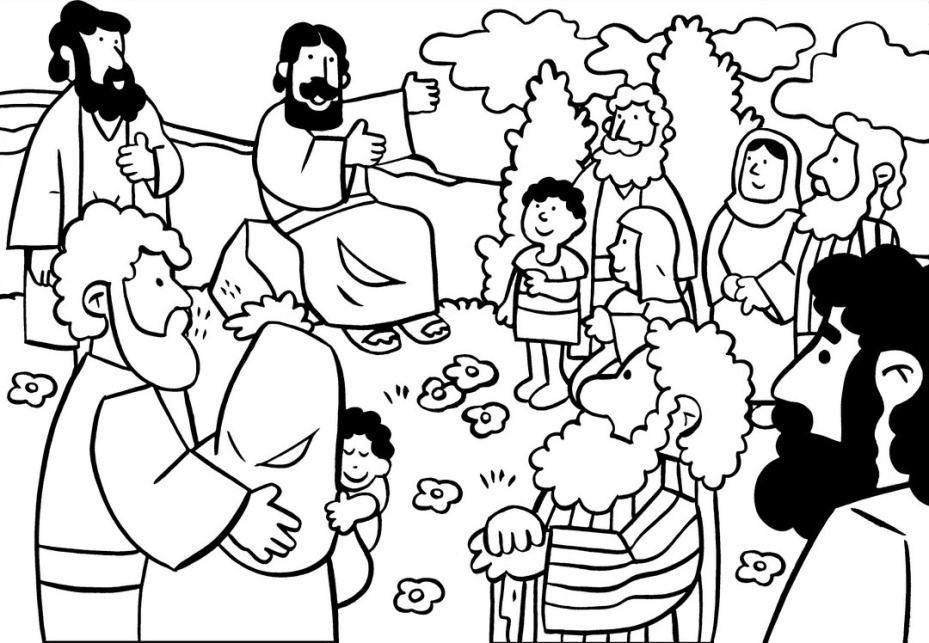 Sermont On The Mount Coloring Pages | The Beatitudes Sermon ...