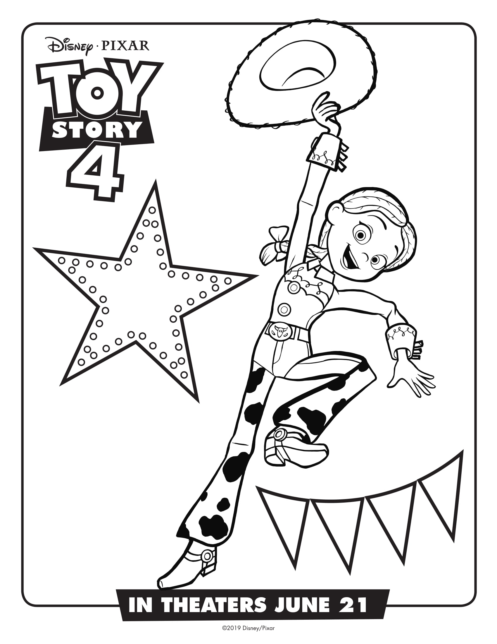 Toy Story 4 Coloring Pages Coloring Home