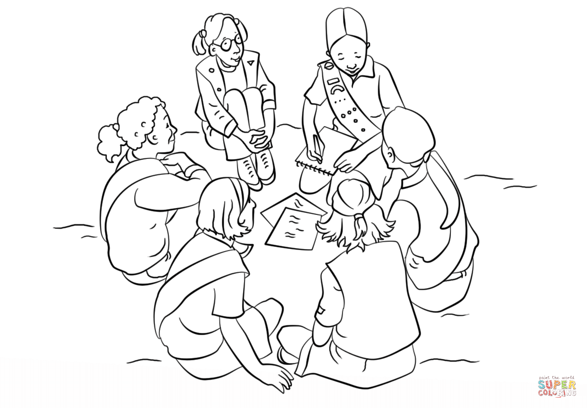scouting coloring pages - photo#35