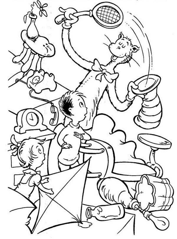 Printable Cat in the Hat Coloring Pages | Coloring Me