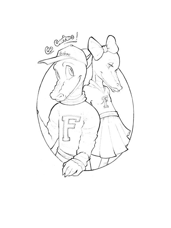 florida gators printable coloring pages - photo#36