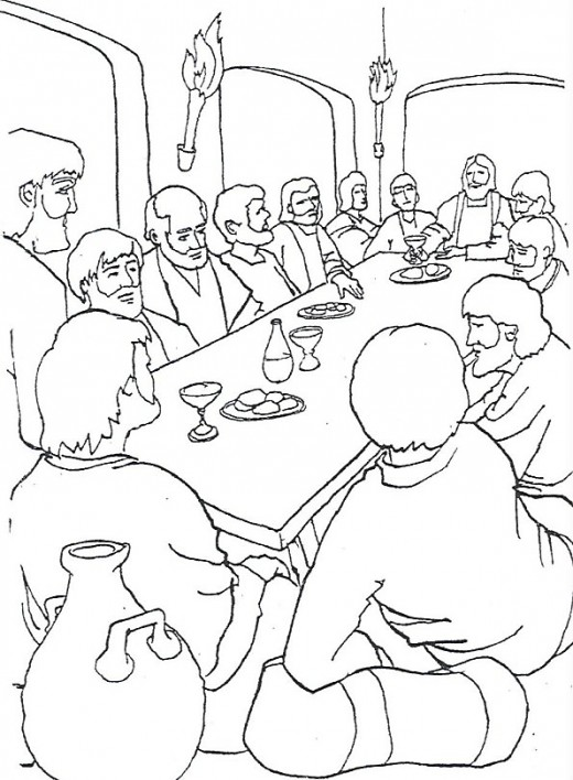 The Last Supper Coloring Page | Free The Last Supper Online Coloring