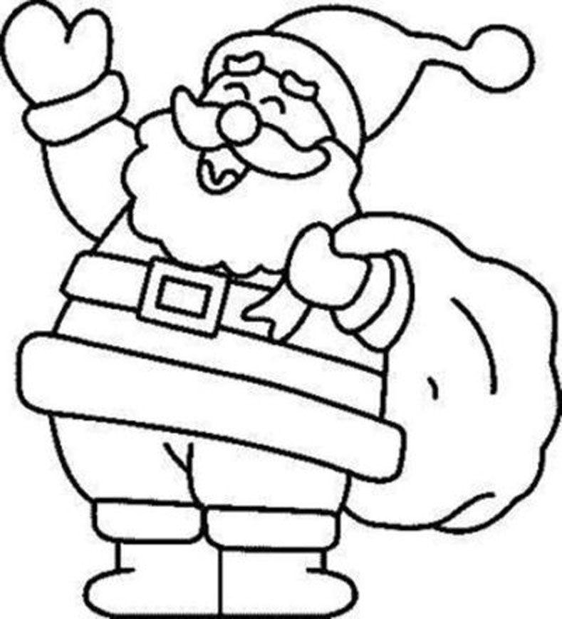 Dibujos De Santa Claus Coloring Home