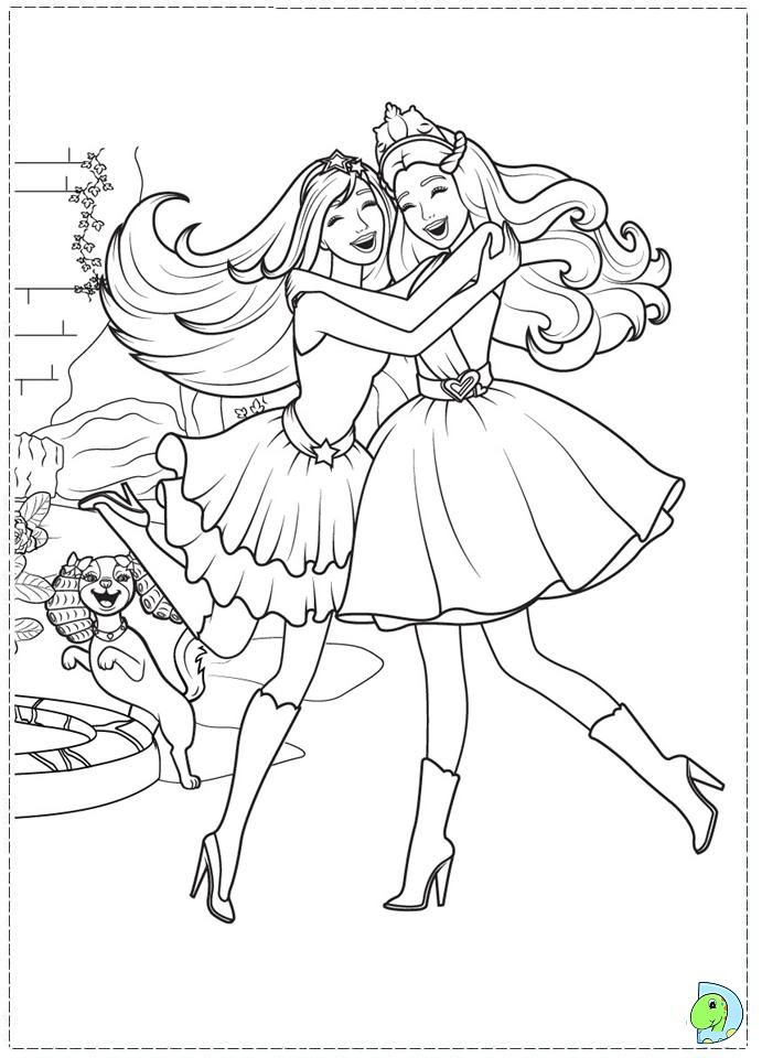 Free Coloring Pages Barbie Princess : Princess barbie coloring page az pages
