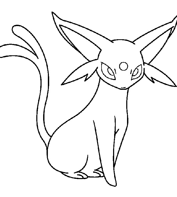 Free Umbreon Coloring Page, Download Free Clip Art, Free Clip Art ... | 748x673
