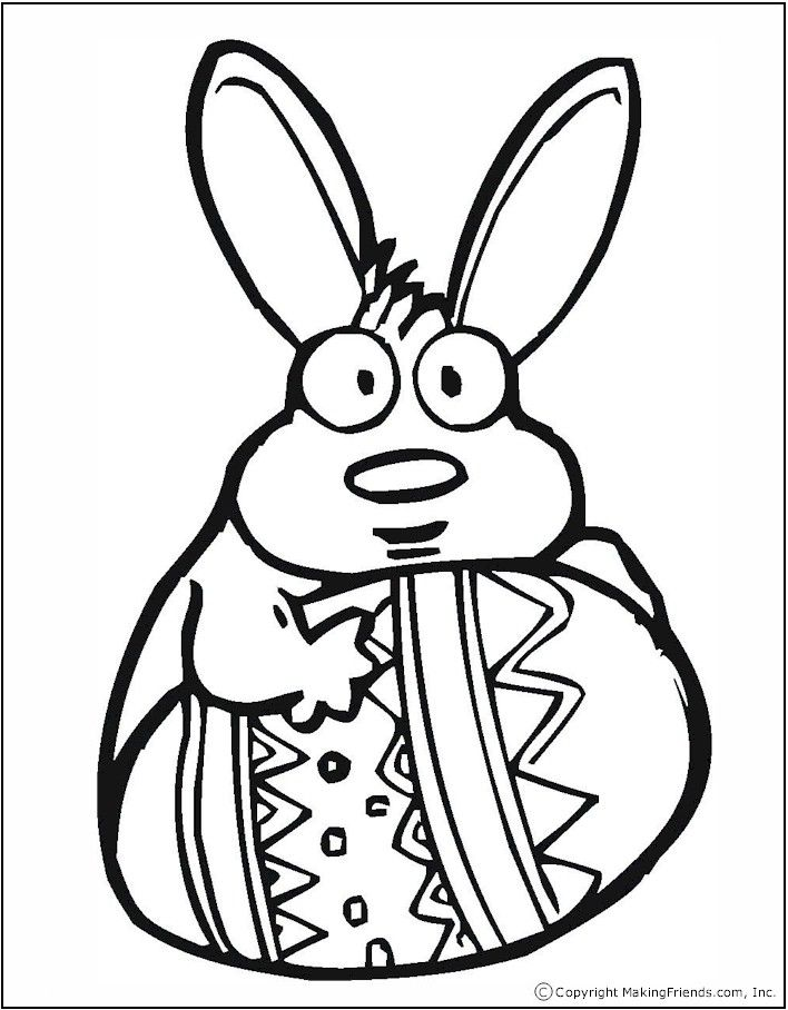 easter eggs coloring pages printable