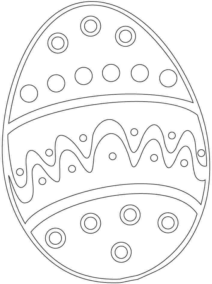 easter egg coloring pages preschool - photo#3