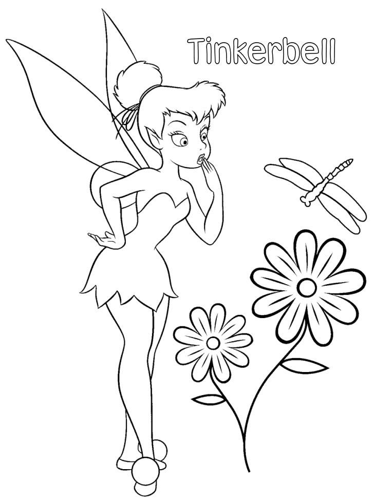tinkerbell head coloring pages - photo#19