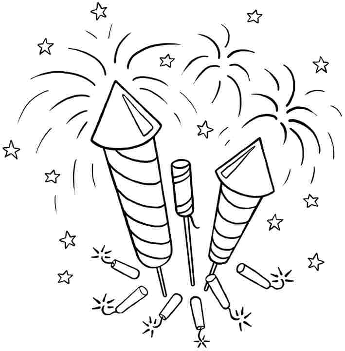 Printable Fireworks Coloring Pages - AZ Coloring Pages