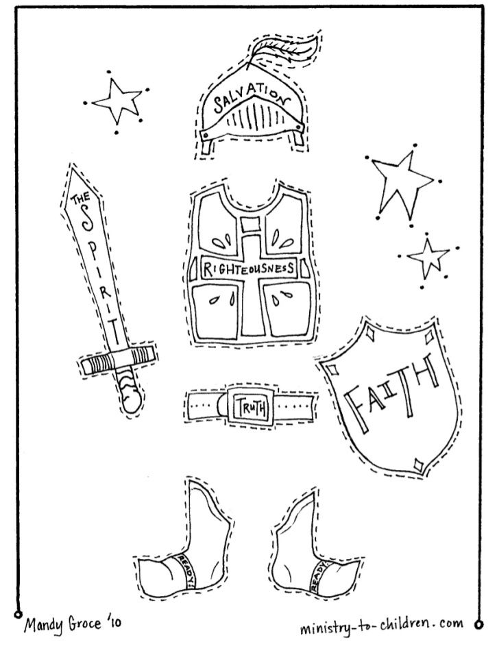Vbs coloring pages armor of-